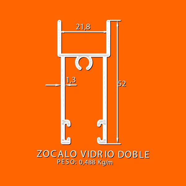 linea europea 06 Vidrio doble – 10 zocalo vidrio doble