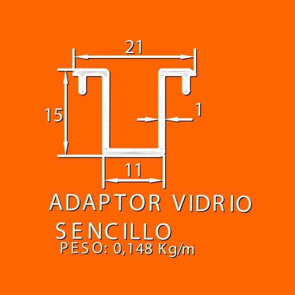 linea europea 06 Vidrio doble – 3 Adaptador vidrio sencillo