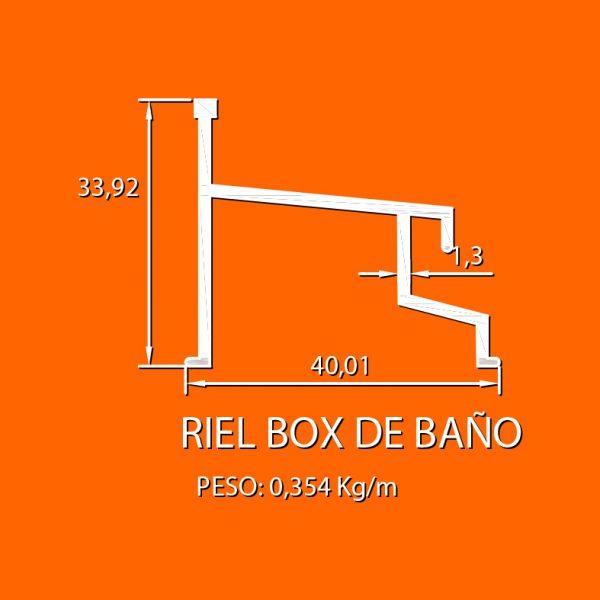 box de baño 2 riel box de baño