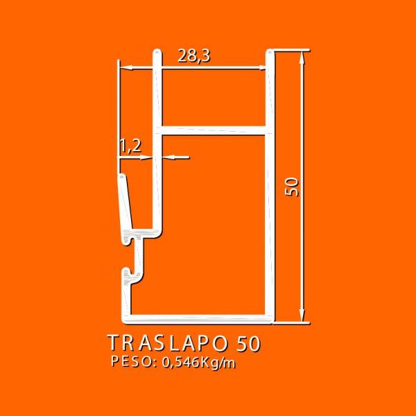 linea europea 06 Vidrio doble – 8 traslapo 50