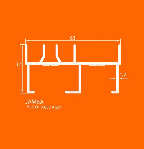 linea europea 06 Vidrio sencillo – 7 Jamba