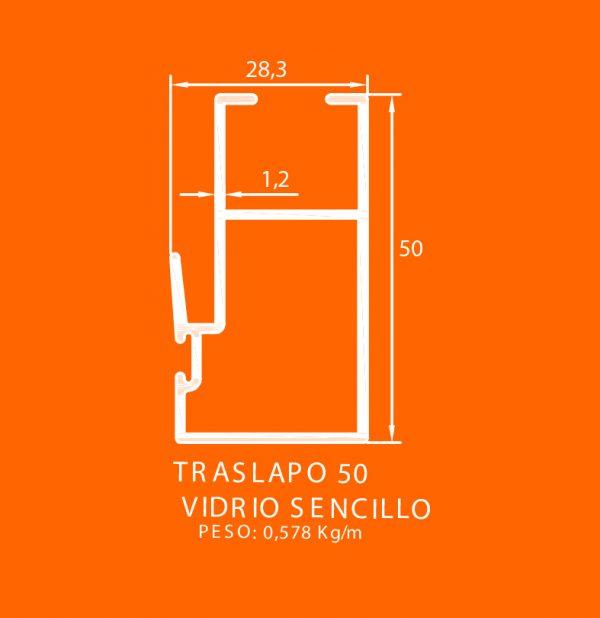 linea europea 06 Vidrio sencillo – 8 traslapo 50